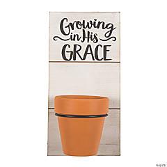 Religious Plant Holder Sign