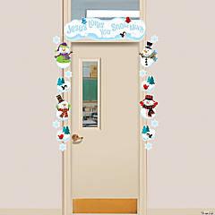 Religious Snowman Door Border