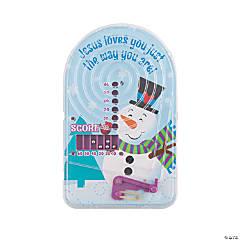Religious Snowman Mini Pinball Games