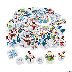 Religious Snowman Self-Adhesive Shapes