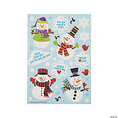 Religious Snowman Sticker Sheets