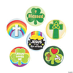 Religious St. Patrick's Day Mini Buttons
