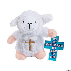 Religious Stuffed Lambs with Card