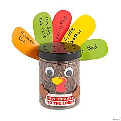 Religious Thankful for Turkey Jar Craft Kit