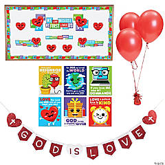 Religious Valentine's Day Classroom Decorating Kit