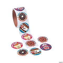 Religious Valentine Scented Sticker Rolls