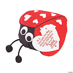 Religious Valentine Stuffed Ladybugs with Card