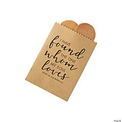 Religious Wedding Kraft Paper Treat Bags