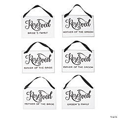 Reserved for Wedding Signs