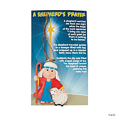 "Resin ""A Shepherd's Prayer"" Christmas Ornaments on Card"