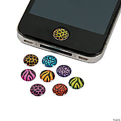 Resin Animal Print Home Button Stickers