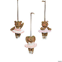 Resin Ballerina Bear Christmas Ornaments