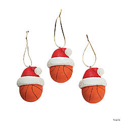 Resin Basketball Christmas Ornaments