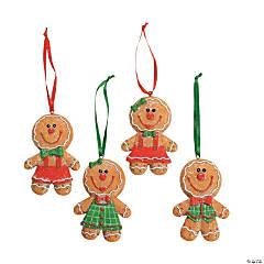 Resin Big Head Gingerbread Christmas Ornaments