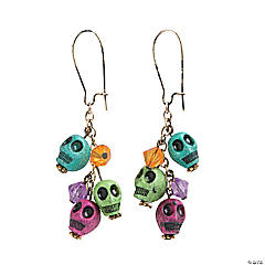 Resin Day of the Dead Dangling Earrings Craft Kit