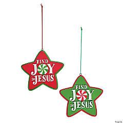 "Resin ""Find Joy in Jesus"" Christmas Ornaments"