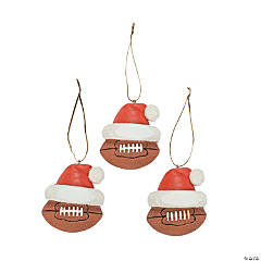 Resin Football Christmas Ornaments