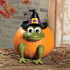 Resin Frog Pumpkin Poke-Ins