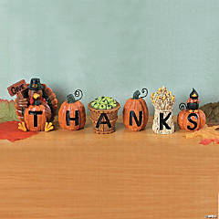 "Resin ""Give Thanks"" Blocks"