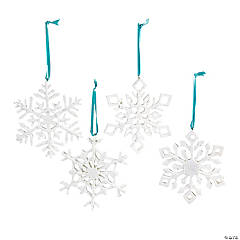 Resin Iridescent Snowflake Christmas Ornaments