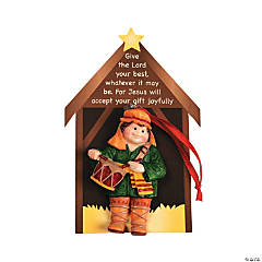 Resin Little Drummer Boy Christmas Ornaments