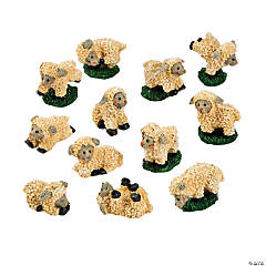 Resin Mini Flock of Lambs