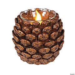 Resin Pinecone Votive Holder