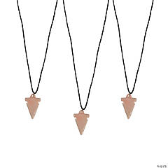 Resin Polished Arrowhead Necklaces
