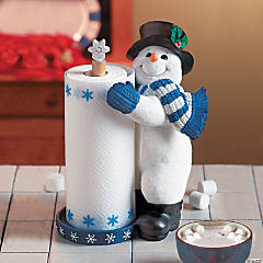 Resin Snowman Paper Towel Holder