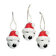 Resin Soccer Ball Christmas Ornaments