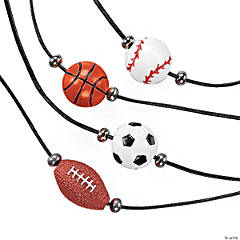 Resin Sport Ball Necklaces