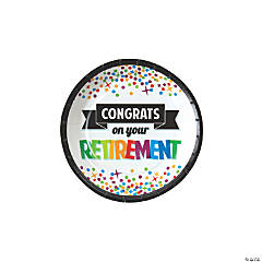 Retirement Dessert Paper Plates