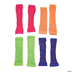 Retro Neon Fishnet Arm Sleeves