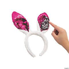 Reversible Sequin Bunny Ears Headbands
