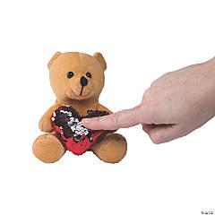 Reversible Sequin Heart Valentine Stuffed Bears