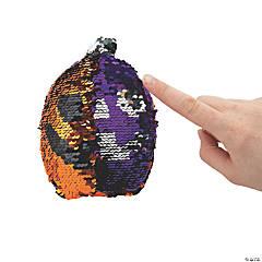 Reversible Sequin Plush Pumpkins - 12 Pc.