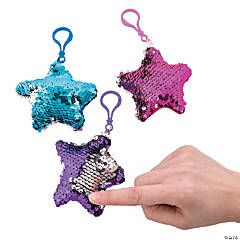 Reversible Sequin Star Keychains