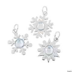 Rhinestone Snowflake Charms