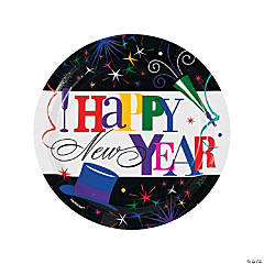 Ring in the New Year Paper Dinner Plates - 60 Ct.
