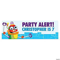 Robot Party Custom Banner - Medium