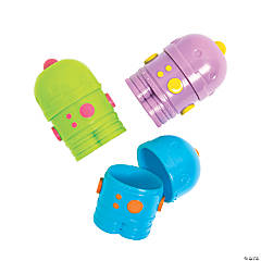 Robot Plastic Easter Eggs - 12 Pc.