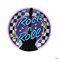 Rock N Roll Plates (8 pc)
