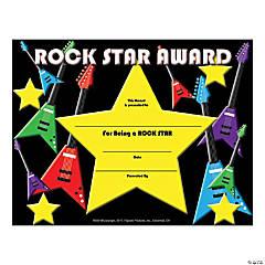 Rock Star Certificate - Qty 180