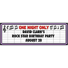 Rock Star Party Custom Banner - Medium