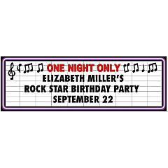 Rock Star Party Custom Banner - Small