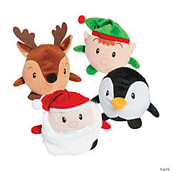Roly Poly Christmas Plush Characters - 12 Pc.