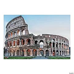 Rome VBS Colosseum Backdrop Banner