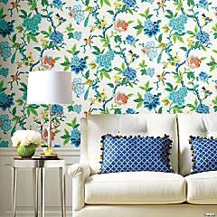 Roommates Candid Moments Peel & Stick Wallpaper - Blue