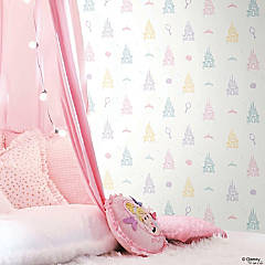 Roommates Disney Princess Castle Peel & Stick Wallpaper - White/Purple