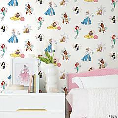 Roommates Disney Princess Power Peel & Stick Wallpaper - White/Blue